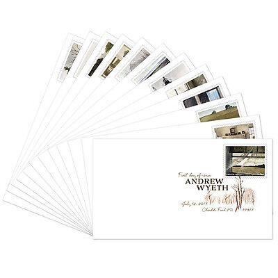 USPS New Andrew Wyeth Digital Color Postmark set of 12