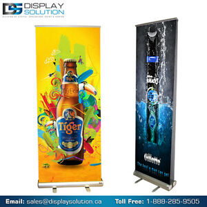 QUICK, EASY & ATTRACTIVE BANNER STAND DISPLAYS