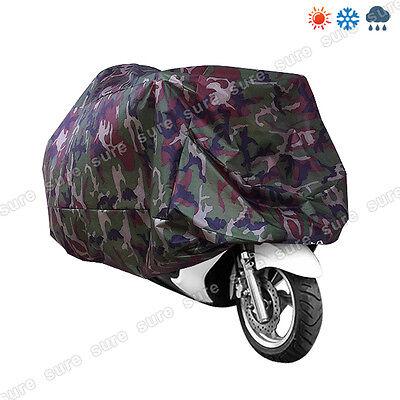 XXL Motorcycle Waterproof Outdoor Protective Motorbike Rain Vented Bike Cover