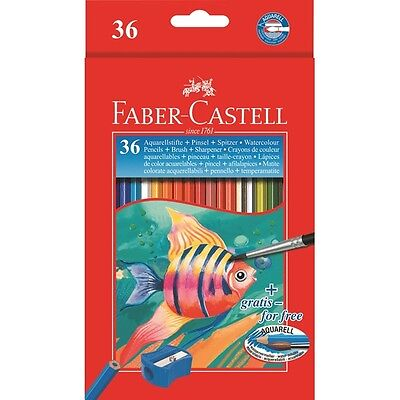 MATITE COLORATE ACQUERELLABILI FABER CASTELL 12 - 24 PASTELLI COLORATI ASSORTITI