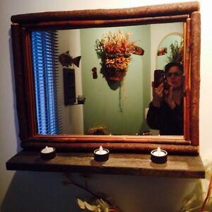Wood and twig mirror
