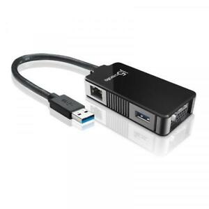 j5create JUA370 USB 3.0 to VGA/Gigabit Multi-Adapter (Open Box)