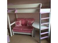 Stompa high Sleeper and sofa bed.