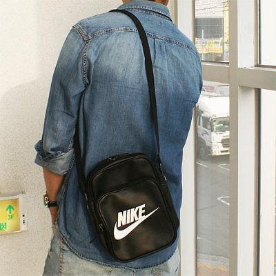 pretty nice 9d563 76b74 Nike Heritage Si Klein Schultertasche Messenger Flug Schwarze Handtasche