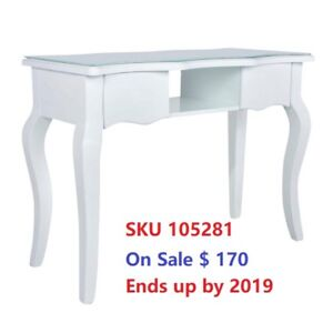 Big Sale--Trendy White Manicure Nail Station Table with $170