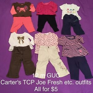 12 month clothing, lots of long sleeves London Ontario image 2