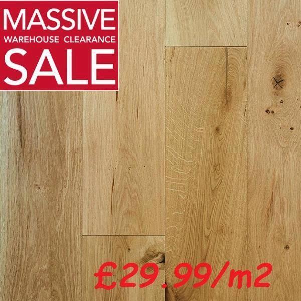 220mm Brushed Oiled European Engineered Oak Wood Flooring 184mm
