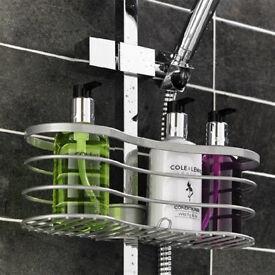 New Metaltex Viva Bathroom Shower Caddy with Polytherm Coated Pole Grip.