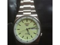RARE SEIKO AUTOMATIC WATCH with LUMINOUS DIAL