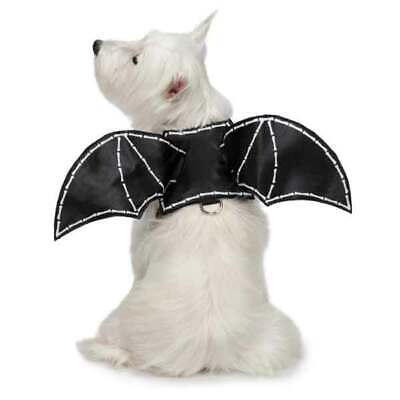 Dog Bat Wing Halloween Costume Harness Scary Glow In the Dark Spooky 3D Wingspan - Bat Dog Halloween Costume
