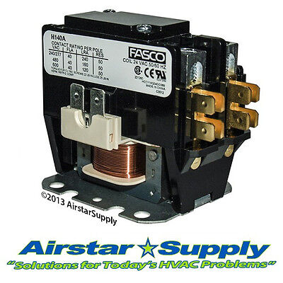 Pole 40 Amp (1 Pole • 40 Amp • 24V Coil - Trane Universal Replacement Contactor)