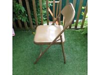 100 x foldable vintage military metal chairs