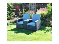 Rattan Multi Lounger 2 person Garden Patio Furniture Set