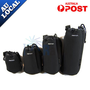4X Neoprene DSLR Camera Lens Soft Protector Pouch Case Bag Set (S+M+L+XL) New