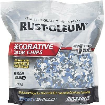 6 Pk Rust-oleum 1 Concrete Garage Floor Gray Color Chip Coating 301359