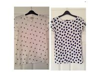 2 x Size 10 T-Shirts Bird/Heart print £5 for both