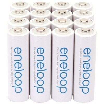 Used, PANASONIC BK-3MCCA16BA eneloop Ni-MH Rechargeable Batteries (AA; 16 pk). for sale  Shipping to India