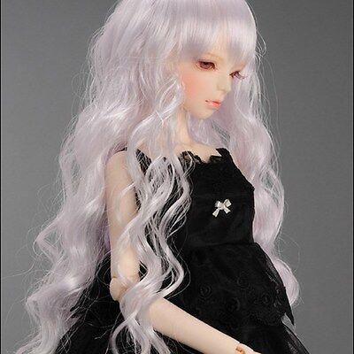 "Dollmore 1//3 BJD Dollfie Wig 8-9 /"" Sinuosity Wig White"