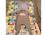 Baby boys sleep suits age 3-6 months
