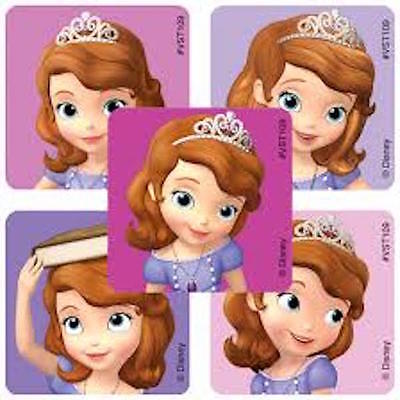 25 Disney Junior Princess Sofia the First Stickers Party Favors Teacher Supply ](Sofia The First Party Supply)