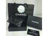 ORIGINAL CHANEL CARD HOLDER LAMBSKIN LEATHER BRAND NEW!!!