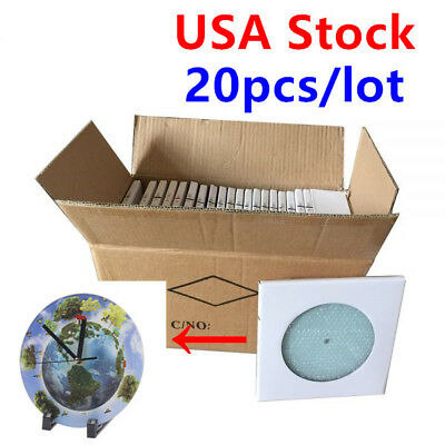 Usa Stock 20 Pack Sublimation Blanks Glossy Round Clock Glass Photo Frame