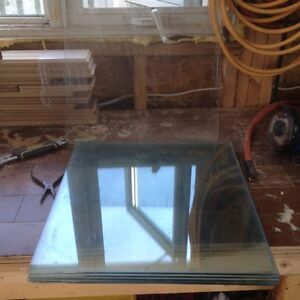 "Tempered glass 16""x17"" 1/4"