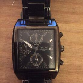 Men's pulsar black watch