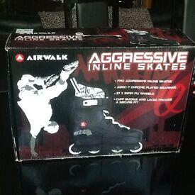 Adult Size 8 in line Airwalk skates
