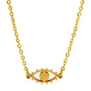 GOLD WOMEN EVIL EYE NECKLACE