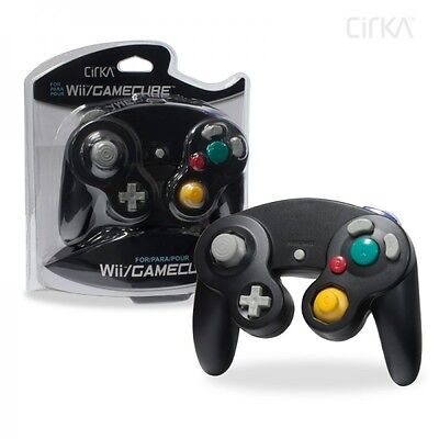Black Shock Game Controller Pad for Nintendo Gamecube GC Wii NEW Cirka Brand