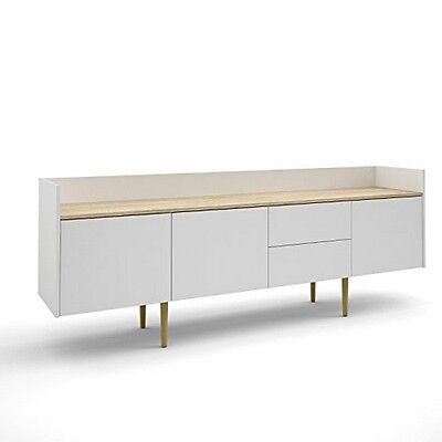 بوفيه جديد Tvilum 7004849AK Unit 2 Drawer And 3 Door Sideboard White/Oak Structure NEW