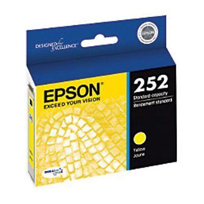 NEW Epson 252 Yellow T252420 Ink Cartridge Genuine