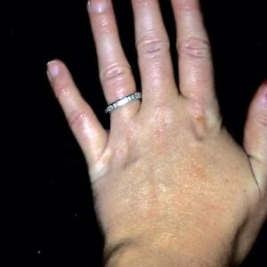 Eternity Ring & Heart Pendant Necklace  Cambridge Kitchener Area image 3