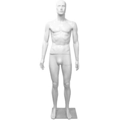 Mn-245 White Plastic Abstract Male Full Size Mannequin Removable Head E2