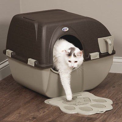 Easy SELF CLEANING Automatic Cat Litter Box Kitty Pull SCOOP Pet Toilet Regular