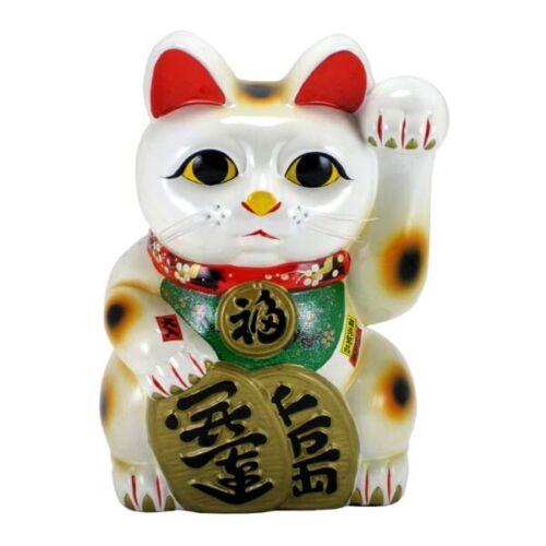 "Japanese 18"" Tall  XXXL Furtune Lucky Maneki Neko Cat Coin Bank/Ceramic Figurine"