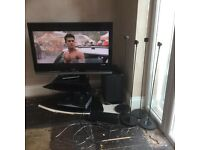 """40"""" Sony LCD TV, black stand and Sony home theatre kit"""