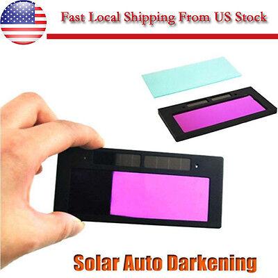 4-14 X 2 Pro Solar Auto Darkening Welding Helmet Lens Goggles Filter Shade Us