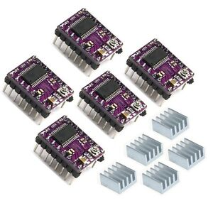 5pcs-Geeetech-Stepper-Driver-DRV8825-and-heatsink-RepRap-Prusa-Mendel-3D-Printer