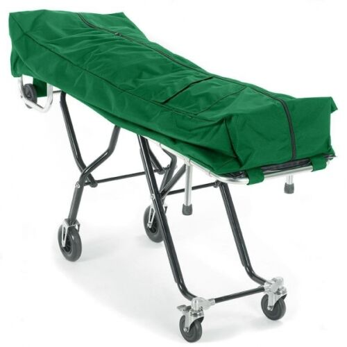 GREEN MORTUARY COT POUCH-MORTUARY STRETCHER -FUNERAL STRETCHER-COT COVER
