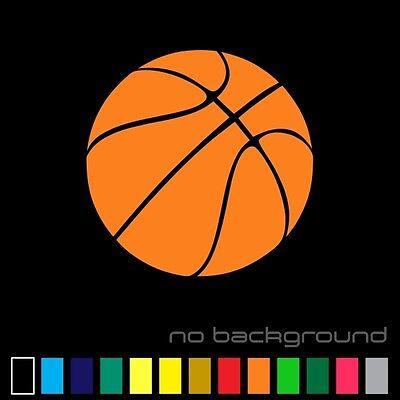 Basketball Sticker Vinyl Decal - Sports Ball NBA Car Window Bumper Wall -