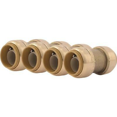 6pk Cash Acme Sharkbite 34 In. Push-to-connect Straight Brass Coupling U016lfa4