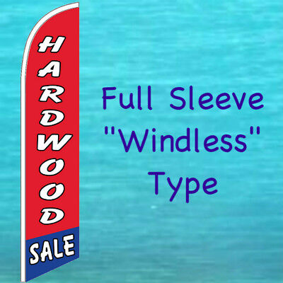 Hardwood Sale Windless Banner Flag Tall Curved Advertising Sign Feather Swooper