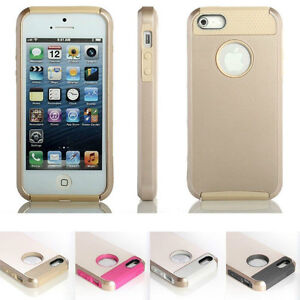 iPhone 5 5S 6S Bumper Gold Cover Case Shockproof Dirt Dust Proof