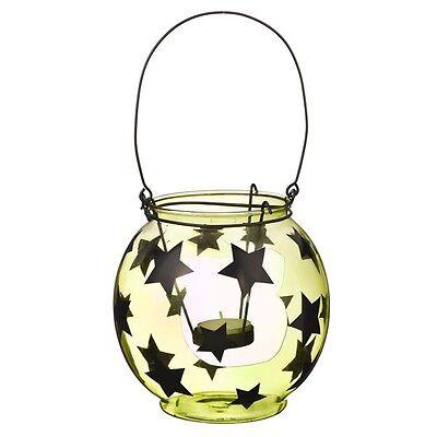 Grasslands Road Halloween - Green Glass Star Lantern - - Halloween Glass Lanterns