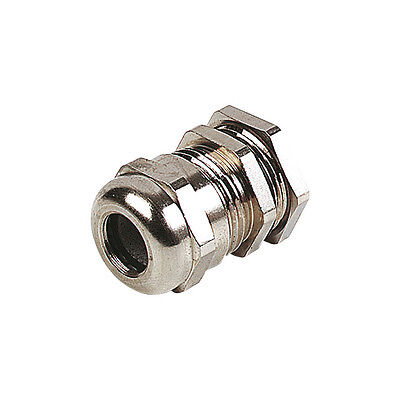 14 Npt - Strain Relief Cord Grip Cable Gland Wnut Wire Us- Nickle Brass Us