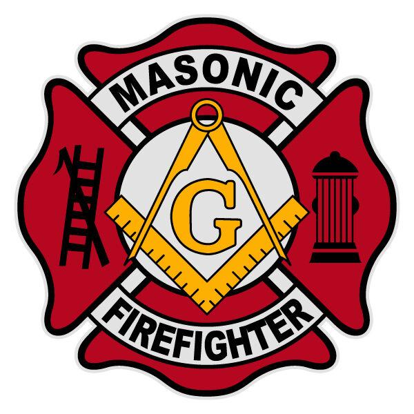 "Masonic Firefighter Medium Maltese Cross Reflective Decal Size approx. 3"""