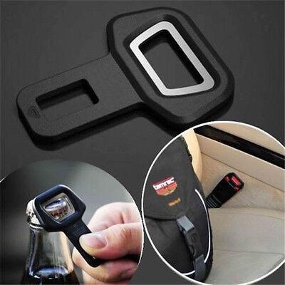 Car Seat Belt Strap Buckle Insert Safety Warning Alarm Eliminator Stopper+Opener