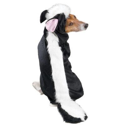 Dog Halloween Costume Lil Stinker Skunk Outfit Fuzzy Black White Stripe